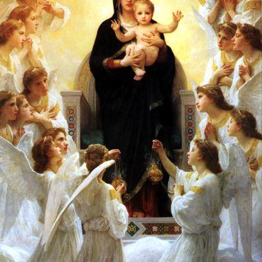 La Virgen con ángeles por William-Adolphe Bouguereau