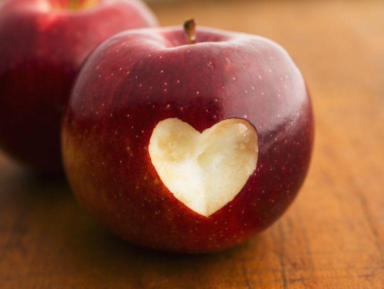 Una manzana al día es buena para el corazón