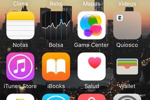 Aplicación de Configuración en la parte inferior de la pantalla