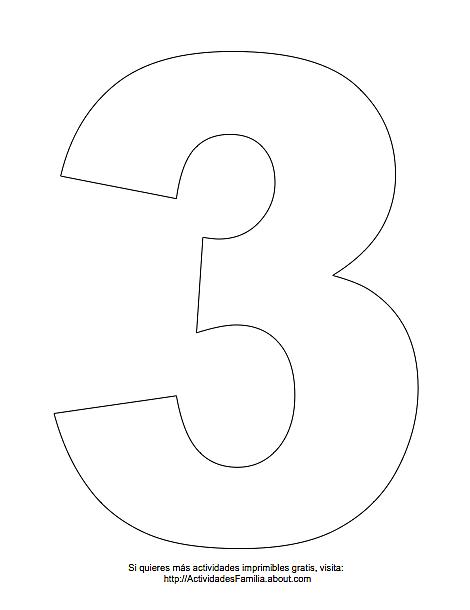 Número 1 Para Colorear