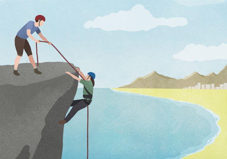 Hombre ayudando a otro