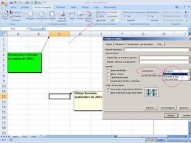 comentarios o notas tipo Post-it en Excel