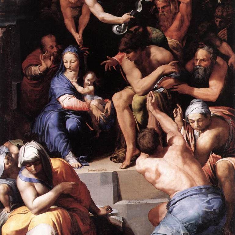 La adoración del niño Cristo por Pellegrino Tibaldi