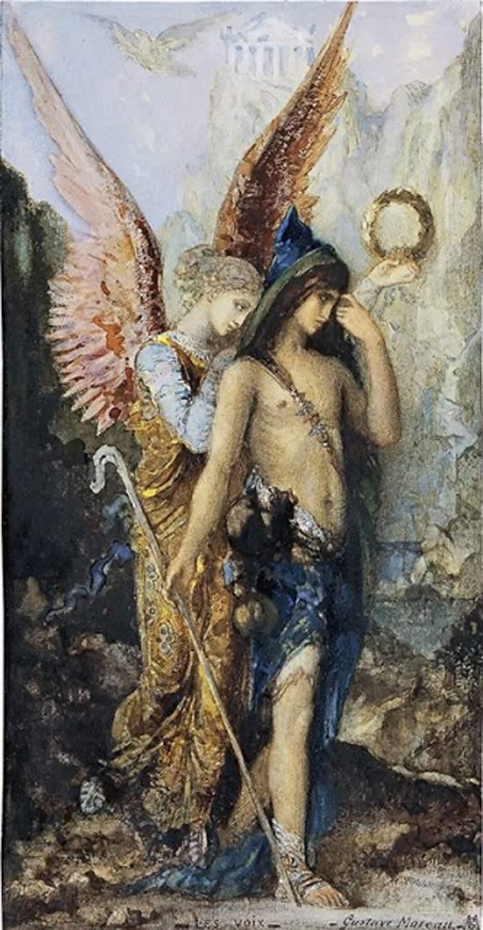 Las voces por Gustave Moreau, 1867