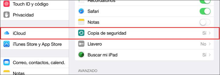 como hacer copias seguridad de ipad con icloud