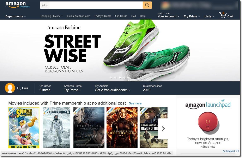 Cuenta de Amazon creada