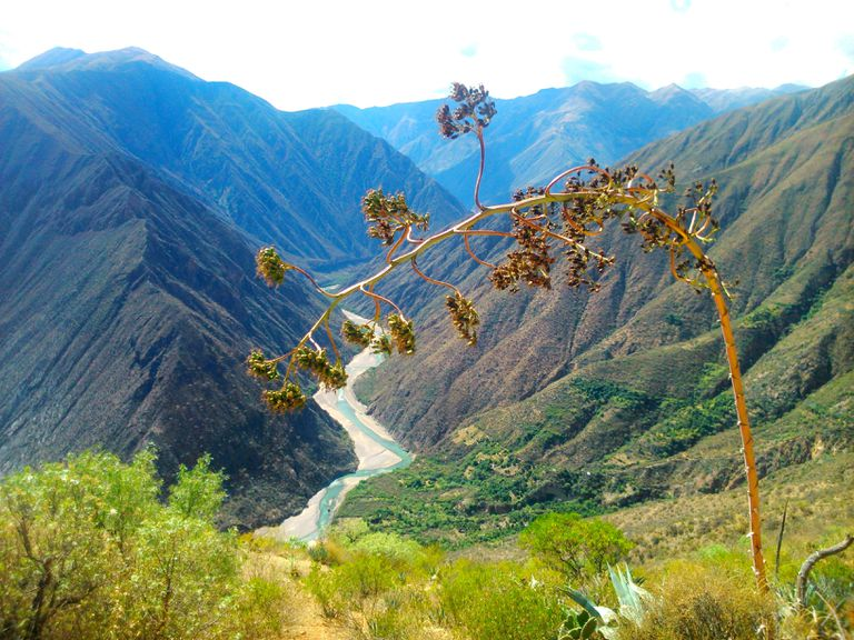 Scenic View Of Mountains Against Sky, Photo Taken In Peru, Huanta