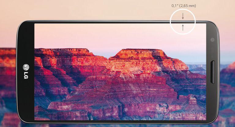 El smartphone LG G2 con cámara principal de 13 megapixeles y batería de 3000mAh.