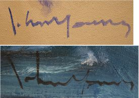 Signature of artist John Young