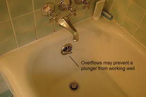 rebosaduras de agua en tina