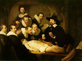 Lección de anatomía, Rembrandt