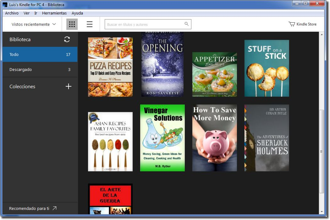 Aplicación Kindle para computadora
