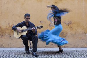 Bailaor de flamenco y guitarrista