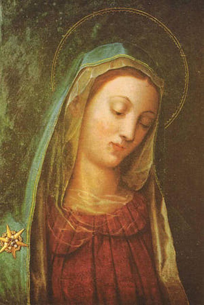 Nuestra Señora de la Cabeza Baja, un ícono católico anónimo y milagroso que se encuentra en la Iglesia y Monasterio de La Santa Familia en Viena, Austria.