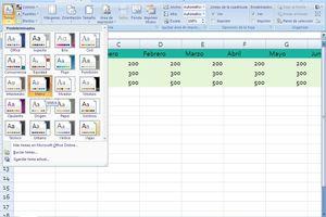 Temas en Excel