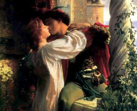 Romeo y Julieta (detalle) por Frank Dicksee