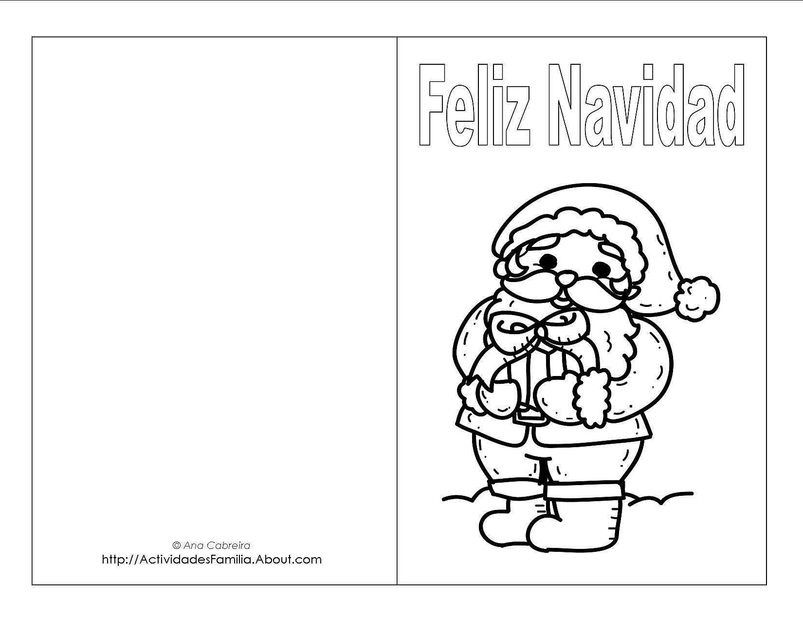 Tarjetas De Navidad Para Imprimir Y Colorear
