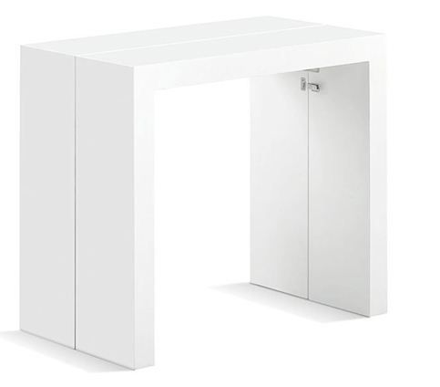 Mesa consola extensible lacada en blanco de PortobelloStreet