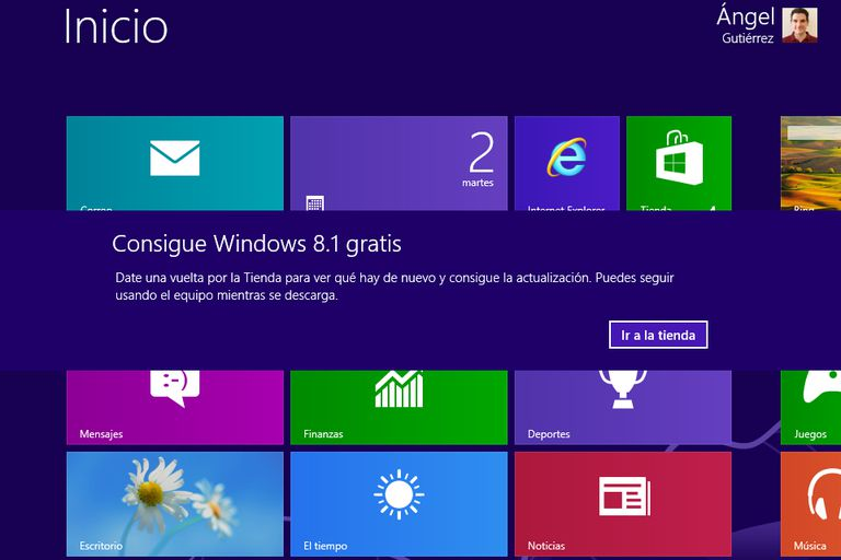 Quitar el mensaje de Windows 8.1