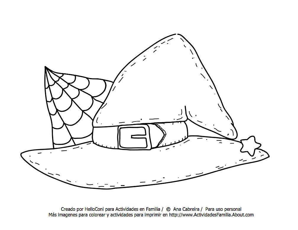 Arañas De Halloween Para Colorear: Dibujos De Brujas Infantiles Para Colorear