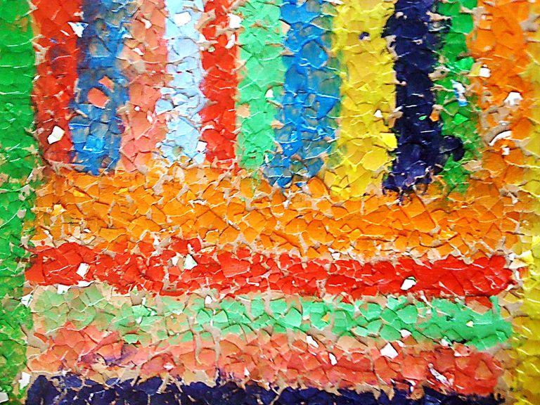 mosaicos con cascara de huevo