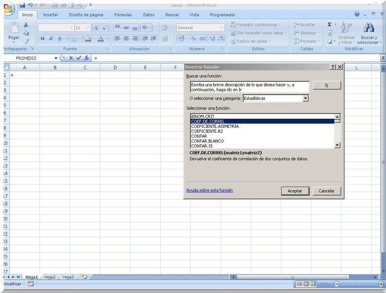 Funciones estadísticas Excel