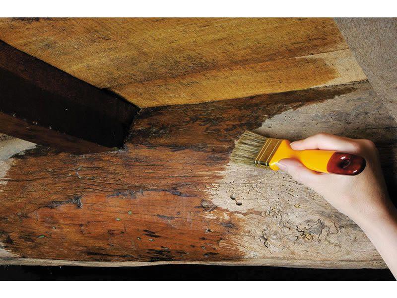 Modo de aplicar el tinte en madera