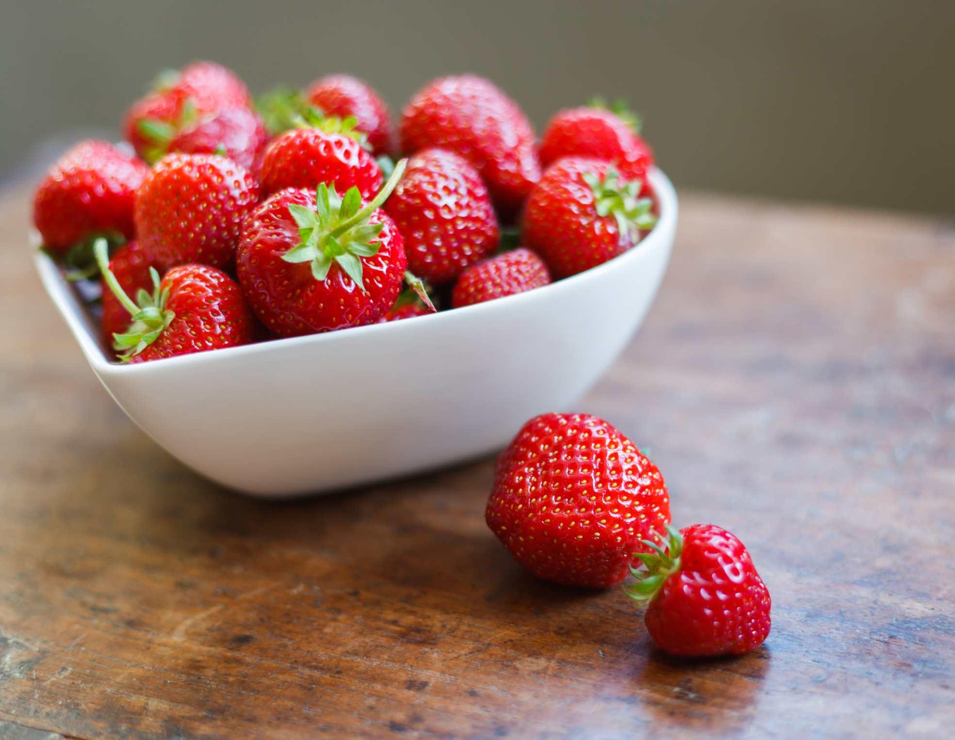 Fresas buenas para el corazón