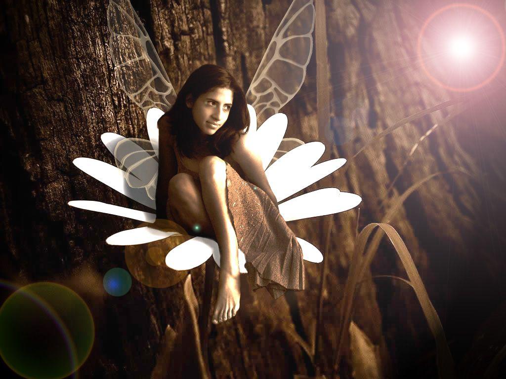 Ella es una mariposa