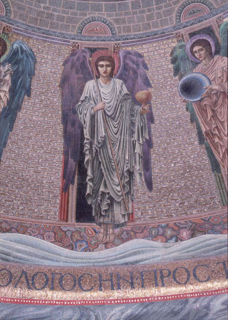 Detail Showing the Archangel Chamuel from the Apse Mosaic of San Paolo fuori le Mura by Edward Burne-Jones
