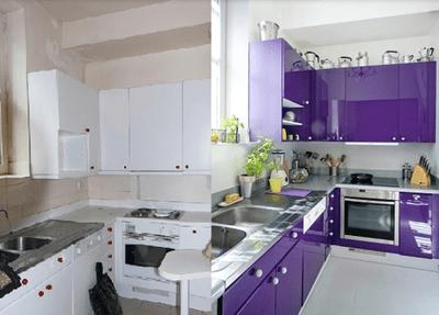Cómo limpiar muebles de cocina lacados