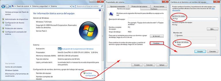 Red Windows 7
