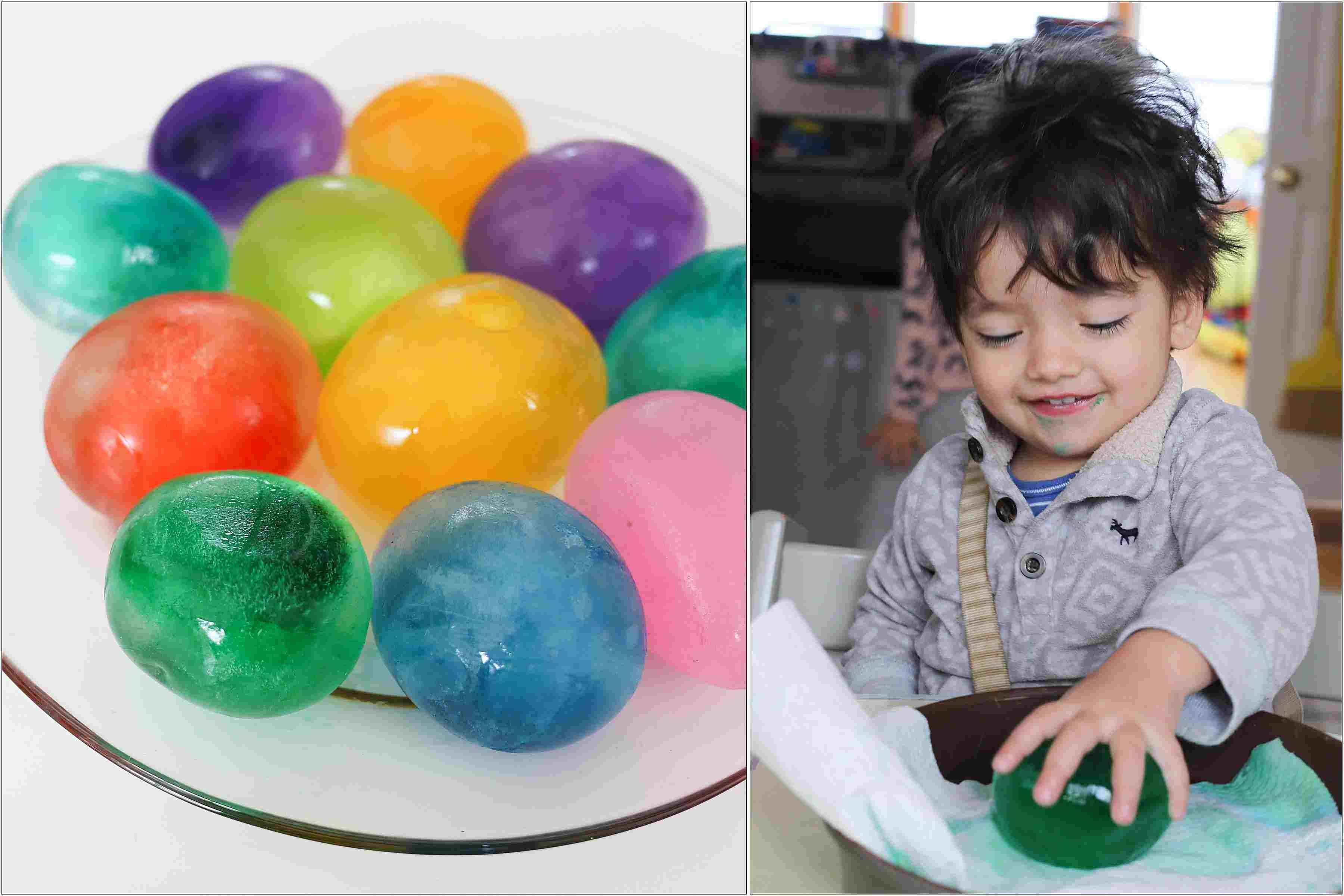 Actividad Sensorial juego con bolas de hielo de colores