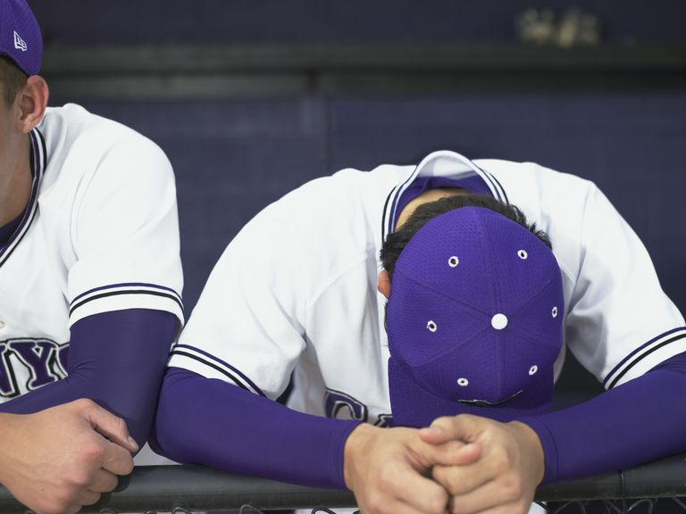 Jugadores de béisbol decepcionados