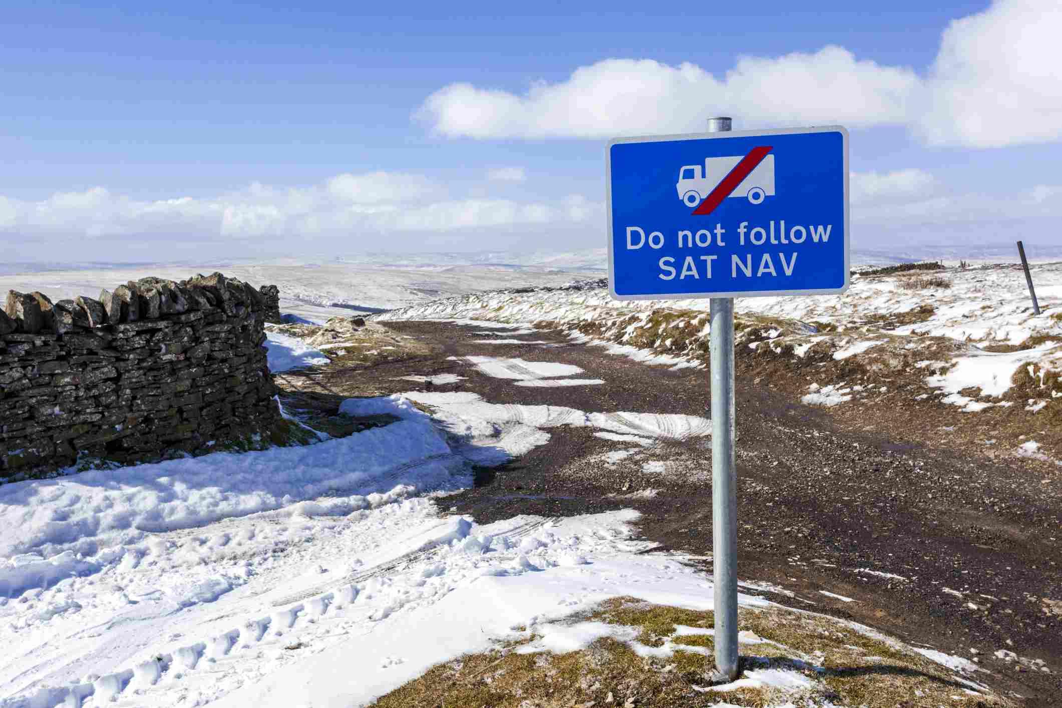 do not follow sat nav