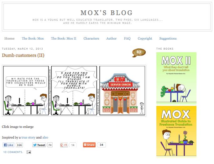 Pantallazo de Mox's Blog