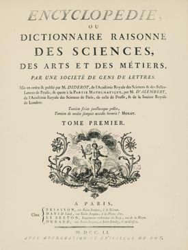 Portada del volumen I of L'Encyclopedie, by Denis Diderot, Jean Baptiste Le Rond d'Alembert, 1751-1757