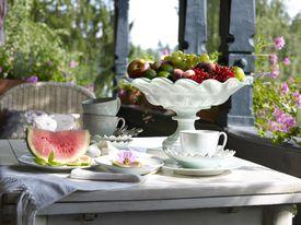 Café y fruta