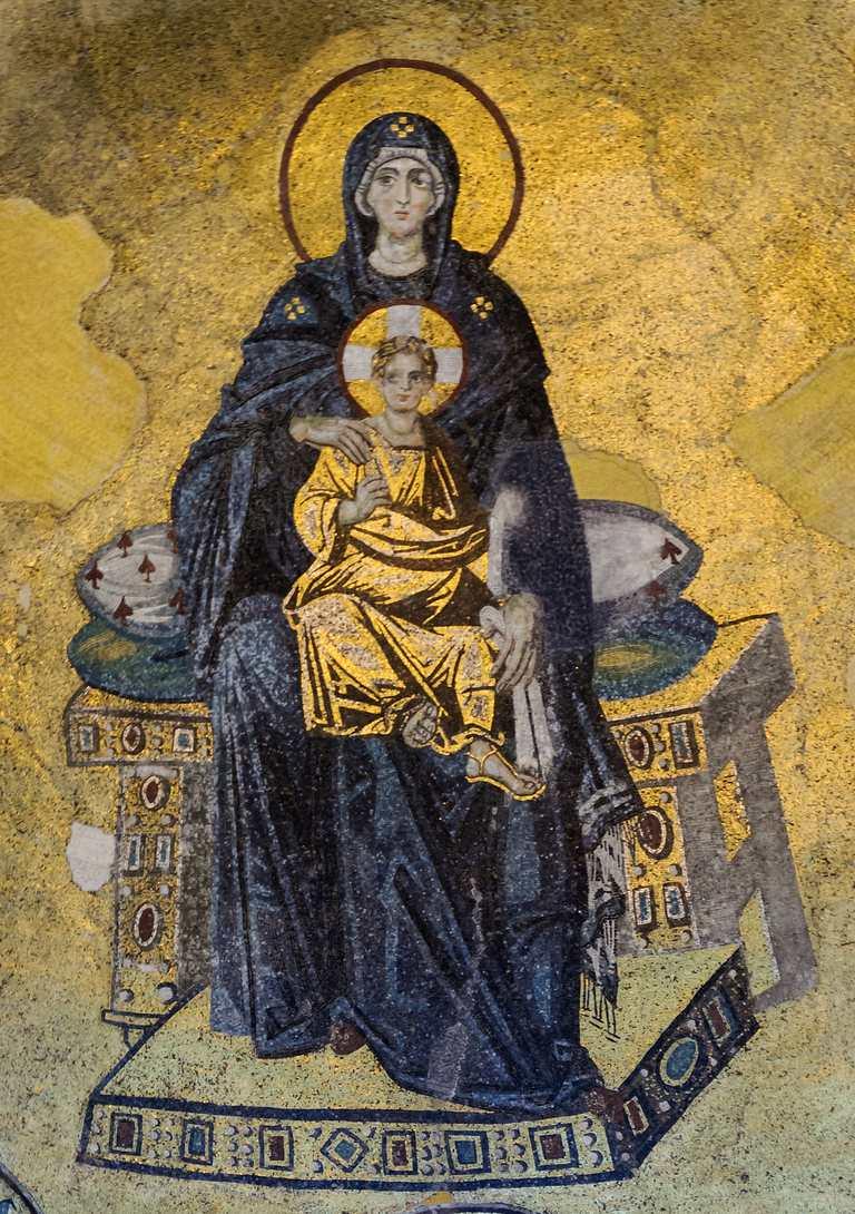 Mosaico de la Virgen con el Niño Jesús, Hagia Sofía, Estambul