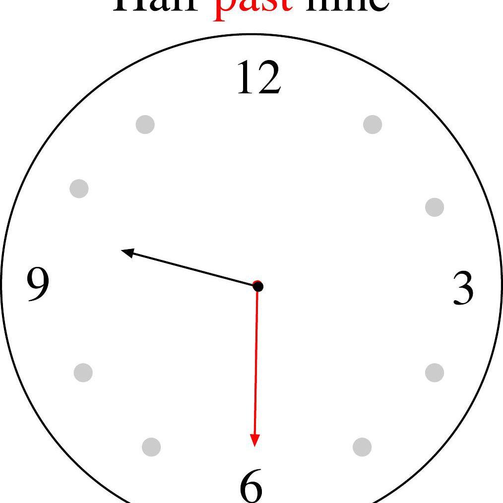 Half past nine