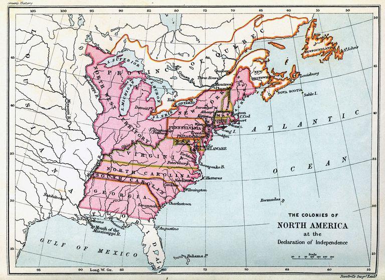 Colonias de Estados Unidos en 1776