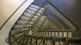 escalera triangular