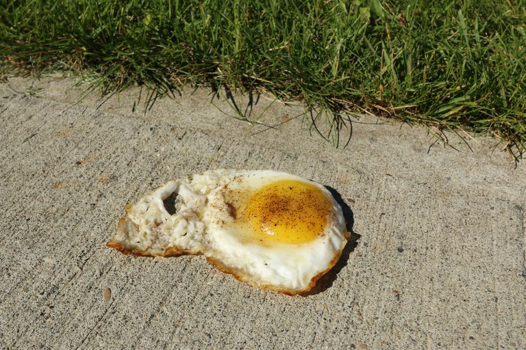 On a hot summer's day it quite often feels hot enough to fry an egg on the sidewalk