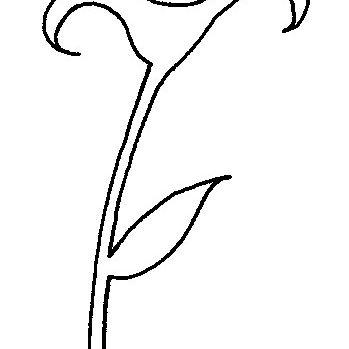 Plantilla de rosa para estarcido
