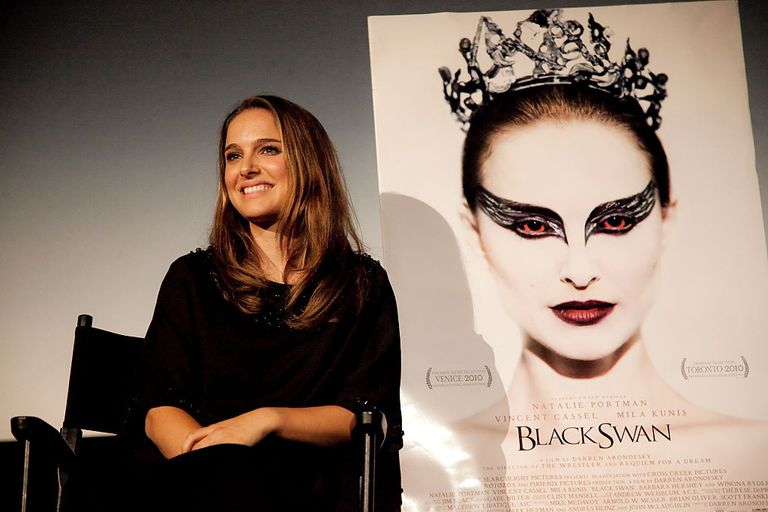 Black swan poster and star