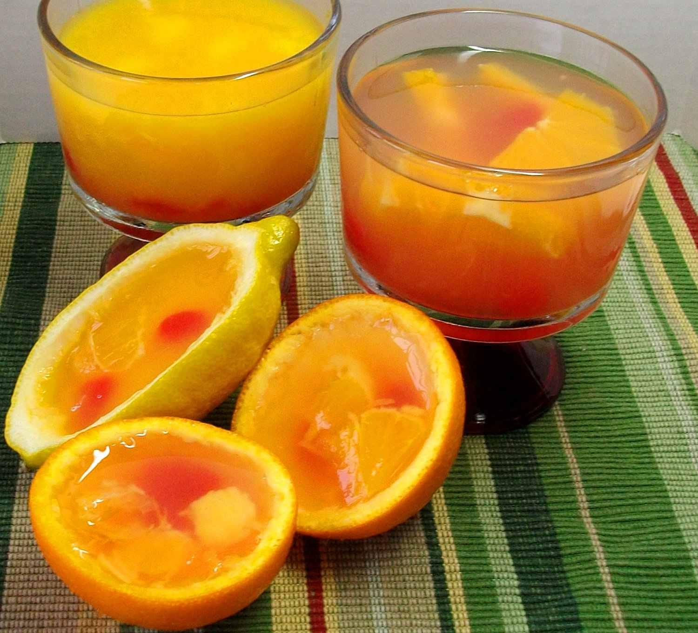 Gelatinas de naranja y limón