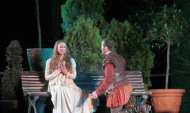 Escena de doña Inés y don Juan