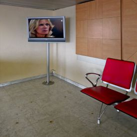 Telenovela en Sala de espera