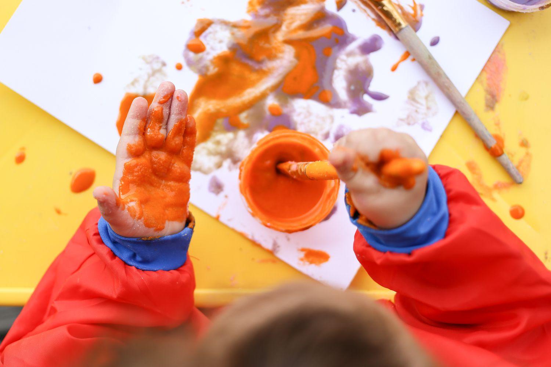 Pintura en las manos